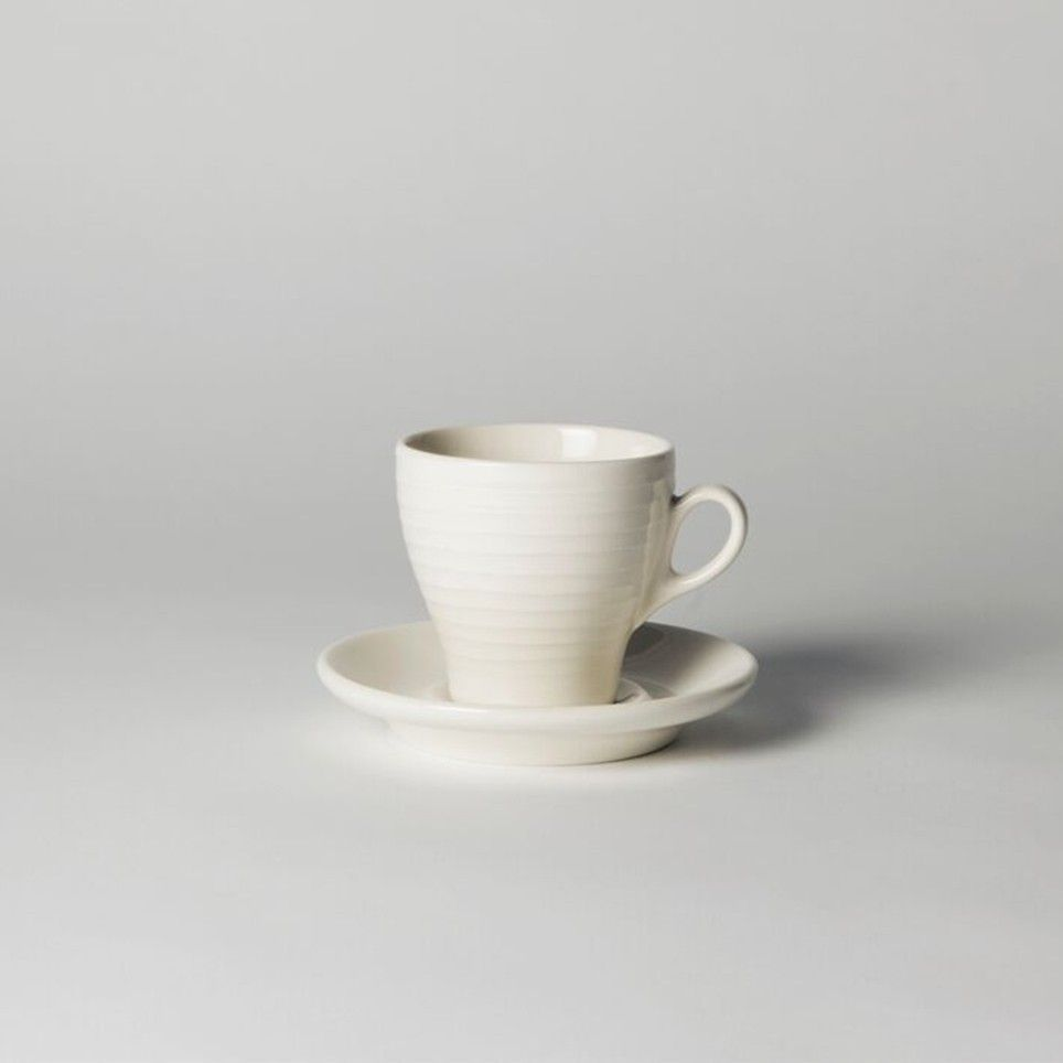 Blond Cappuccino Cup & Saucer