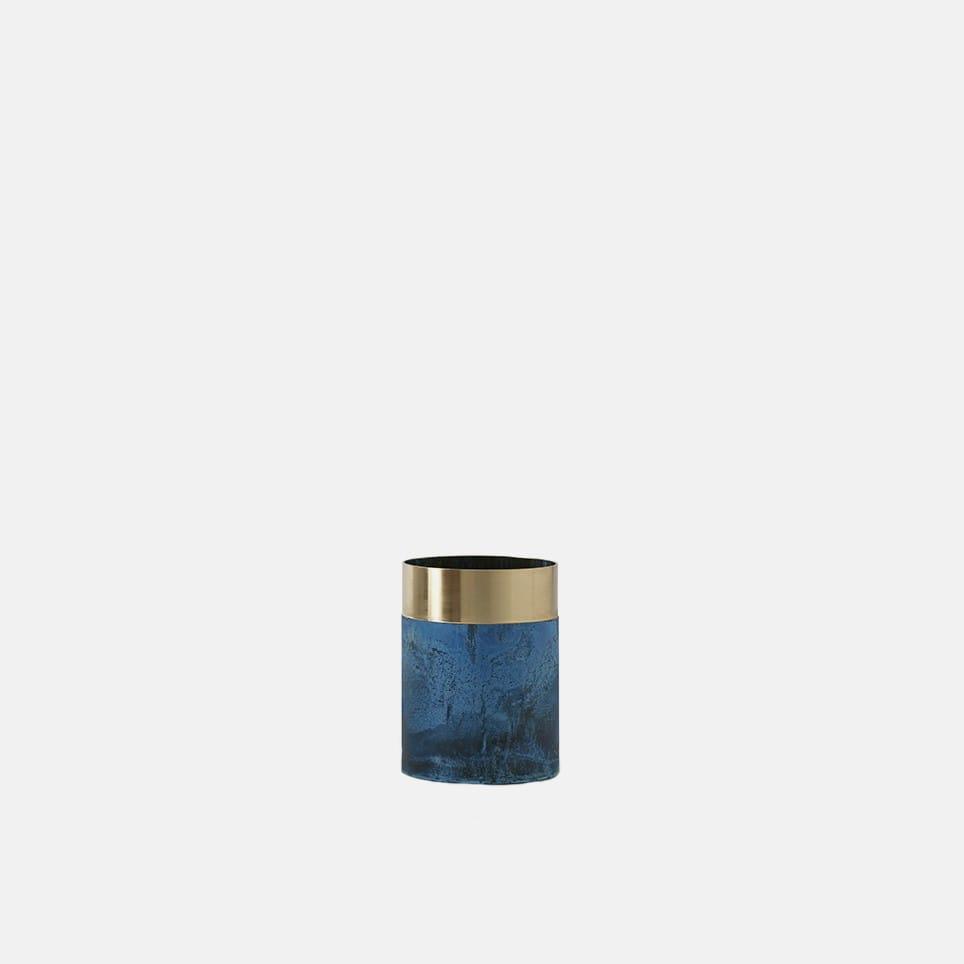 True Colour Vase - Blue Brass