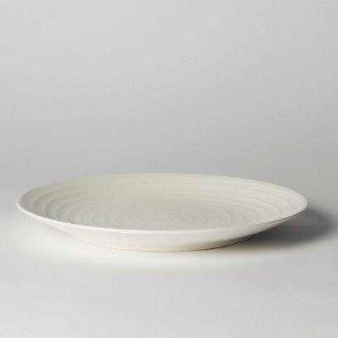 Blond Dinner Plate 28 cm Stripe