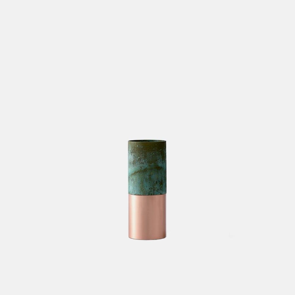 True Colour Vase - Green Copper