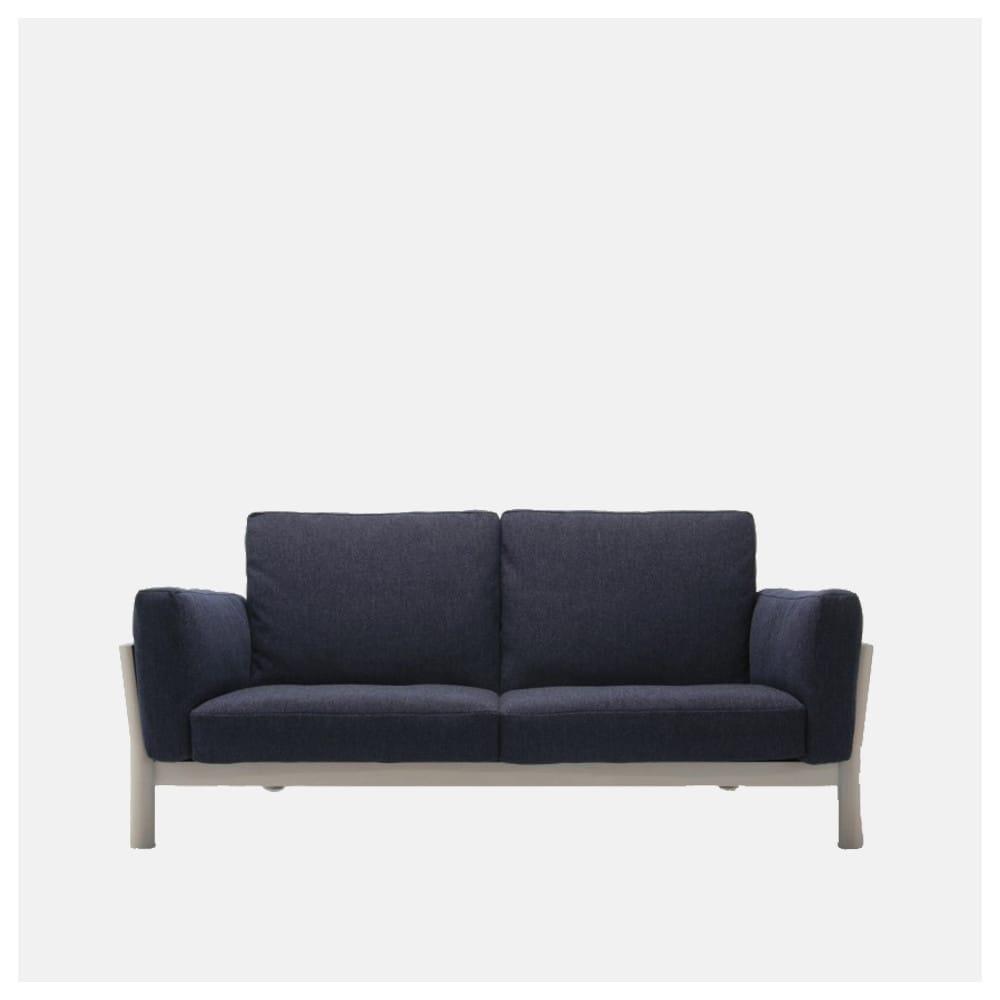 Sof castor de dos asiento con estructura de madera de - El castor muebles ...