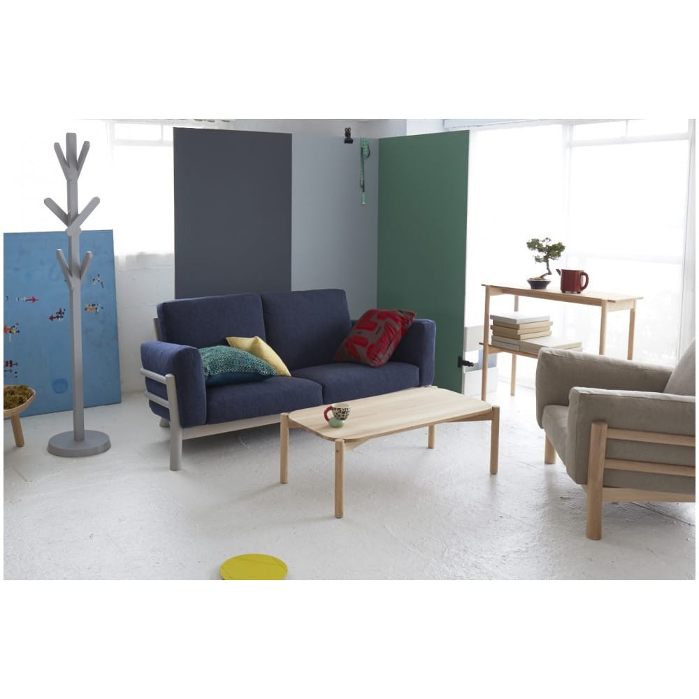 Sof castor de dos asiento con estructura de madera de for Muebles castor