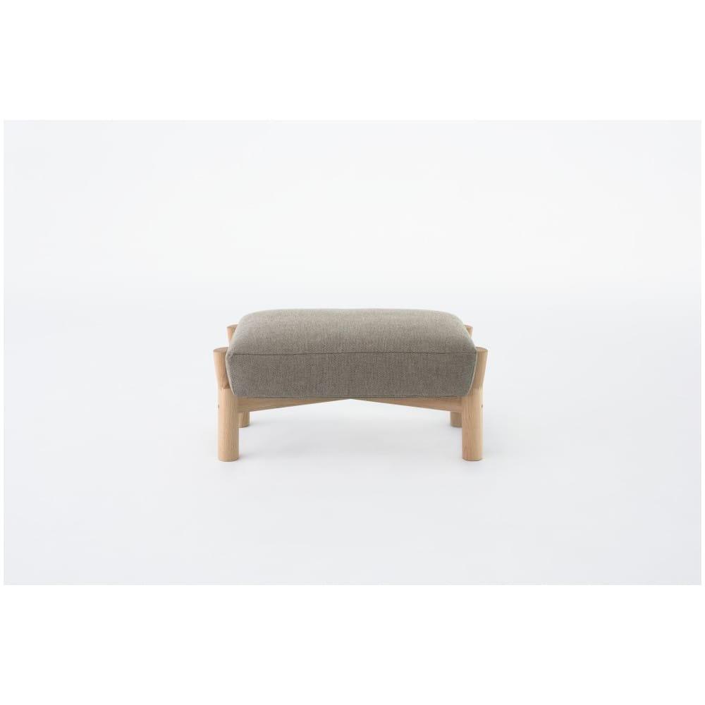 Puff castor ottoman gris en madera maciza y tapizado de for El castor muebles